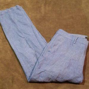 Banana Republic Aiden Fit Linen Blend Pants 34X31